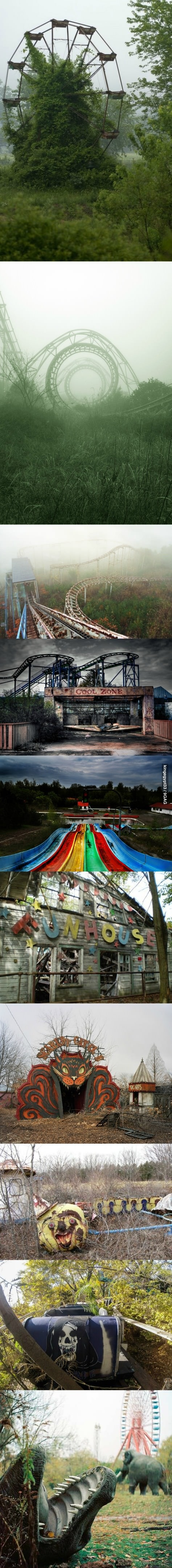 creepy and beautiful abandoned park