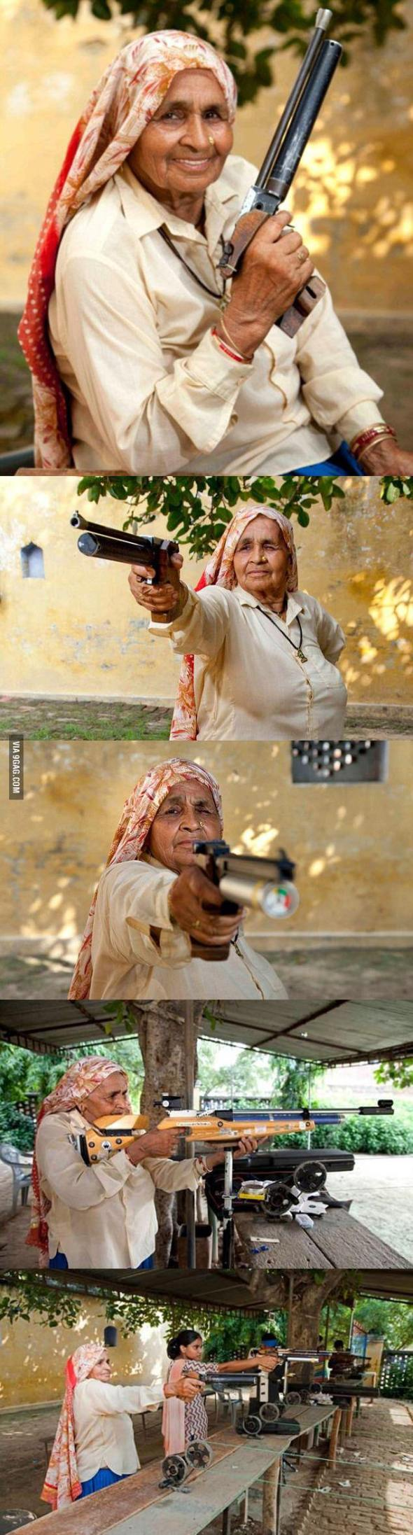 Indian grandmother, 78, is believed to be the world's oldest professional sharpshooter